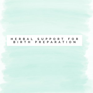 Herbal Support for Birth Preparation