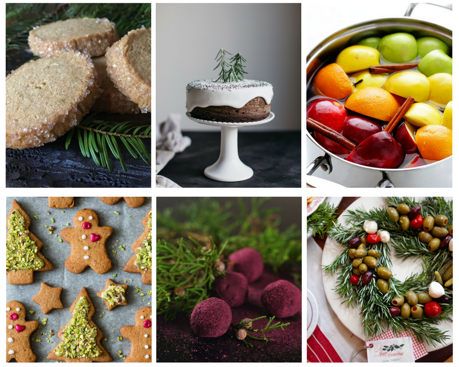 herbal holiday treats collage